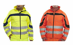 Warnschutz Softshelljacke Softshell Warnjacke Gr.S-6XL EN471 orange o. gelb BEE