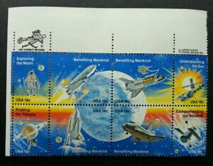 [SJ] USA Space Shuttle 1981 Rocket Astronomy Planet Earth Satellite (stamp) MNH