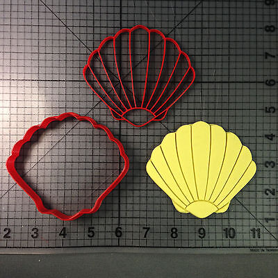 Seashell Cookie Cutter and Stamp