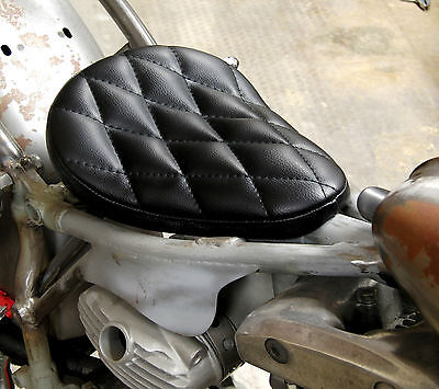EASYRIDERS WEST EAGLE BLACK DIAMOND STITCH SOLO SEAT SMALL HARLEY BOBBER CHOPPER