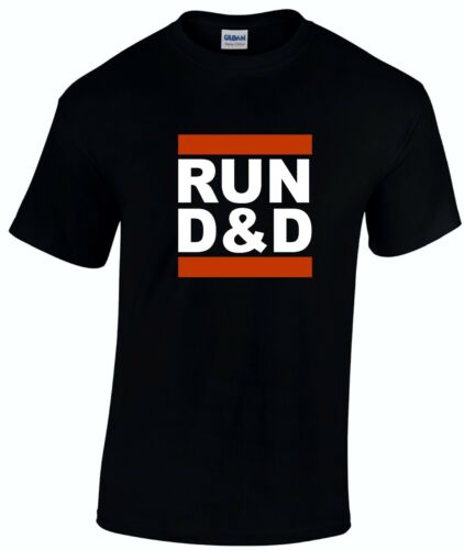 RUN D /& D Mens Role play Gaming T-Shirt Inspired Dungeon Dragon Tabletop Gaming