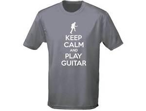 Keep Calm suonare la Chitarra Musica Da Uomo Divertente T-shirt 12 colori