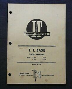 1983 J I CUSTODIA 2090 2290 2690 2590 TRACTOR I & T SERVICE SHOP REPAIR MANUAL