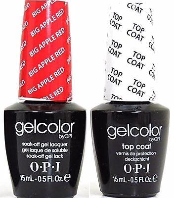 Opi Gel Nail Polish Big Apple Red & Top Coat 0.5 Fl Oz