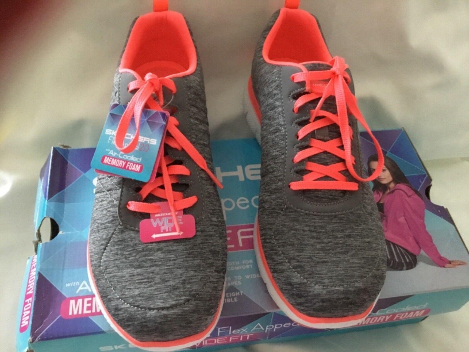 Skechers Flex Appeal 2.0 - - - Zapatos Deportivos Alta Energía-gris coral  diseño simple y generoso
