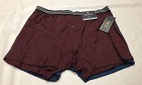 Stafford L Xl Boxers Underwear 2 Pair Knit Mens Slim Fit Blue Burgundy