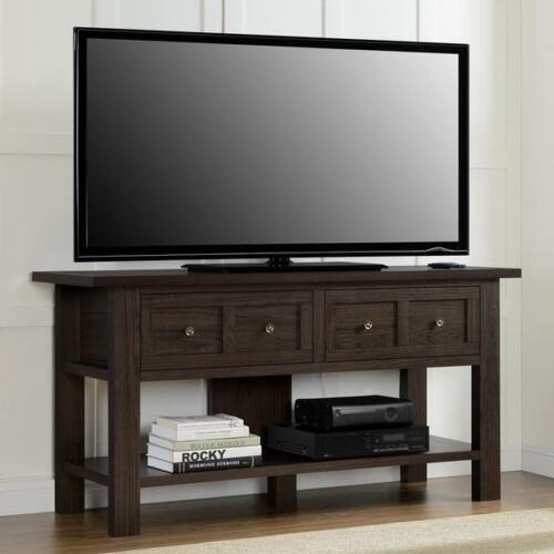 """60/"""" TV Stand Console Sofa Table Rustic Apothecary Entertainment Cherry Finish"""