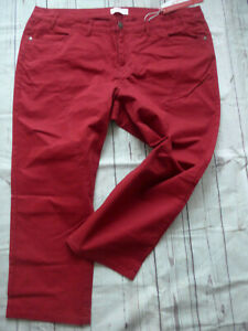 Sheego-7-8-Trousers-Wine-Red-Tone-Ladies-Size-44-to-58-plus-Size-932