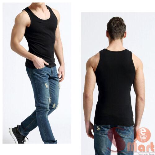 3 6 PC Mens 100/% Cotton Tank Top A-Shirt Wife Beater Undershirt Workout Shirt