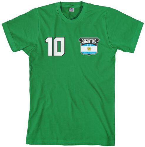 Threadrock Men/'s Team Argentina Soccer T-shirt football