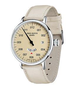 ZENO-WATCH-Einzeigeruhr-GMT-Quarz-mit-Datum