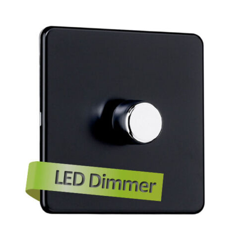 SPECIAL OFFER Flat Plate 1 Gang 2 Way 250W Universal LED dimmer switch