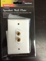 (3 Pc) Radioshack 1 Speaker 24k Gold Wall Plate 2 Terminal Binding Post