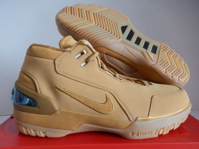 a8e676a6767 NIKE AIR ZOOM GENERATION ASG QS AQ0110-700  WHEAT GOLD  LEBRON JAMES ...