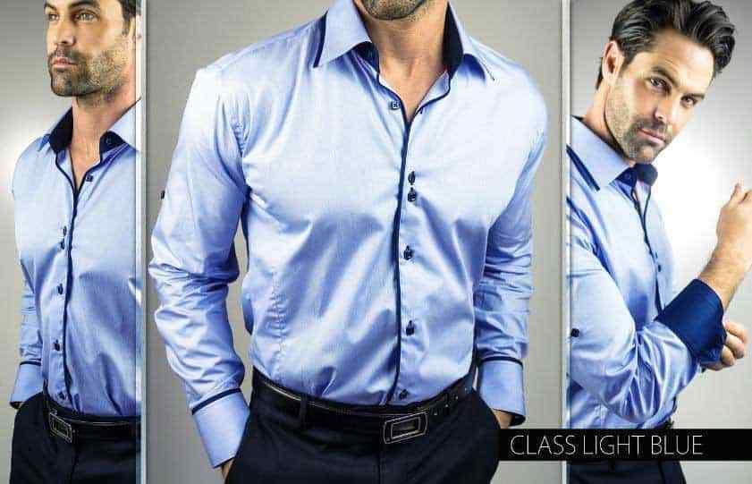 MACEOO LIMITED EDITION Blau DRESS SHIRT Größe: Small