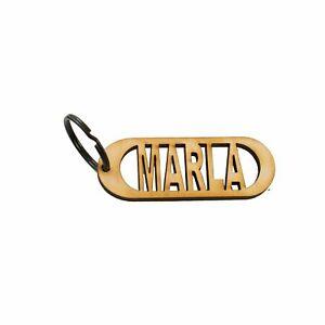 Raw Wood Key Chain Marla
