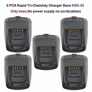 5x Rapid Charger Base KSC-32 For Kenwood TK5210 TK5210K TK-5210K2 Portable Radio