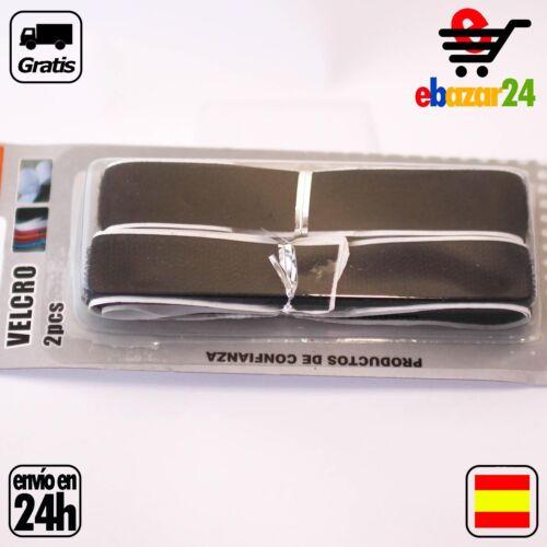 2 tiras de velcro 2x70 Negro costura coser costurera *Envío GRATIS desde España*