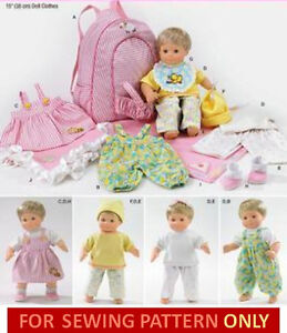 Sewing pattern make bitty baby twins clothes doll carrier fits 15 inch dolls