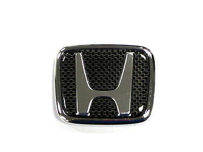 Honda Carbon Fiber H Emblem EF EK EG GA DC Civic/Acura/Integra JDM 2 PCS Set