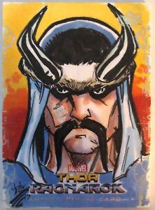 2017-Upper-Deck-Thor-Ragnarok-Justin-Ayers-Artist-Sketch-Card-1-1-Rare