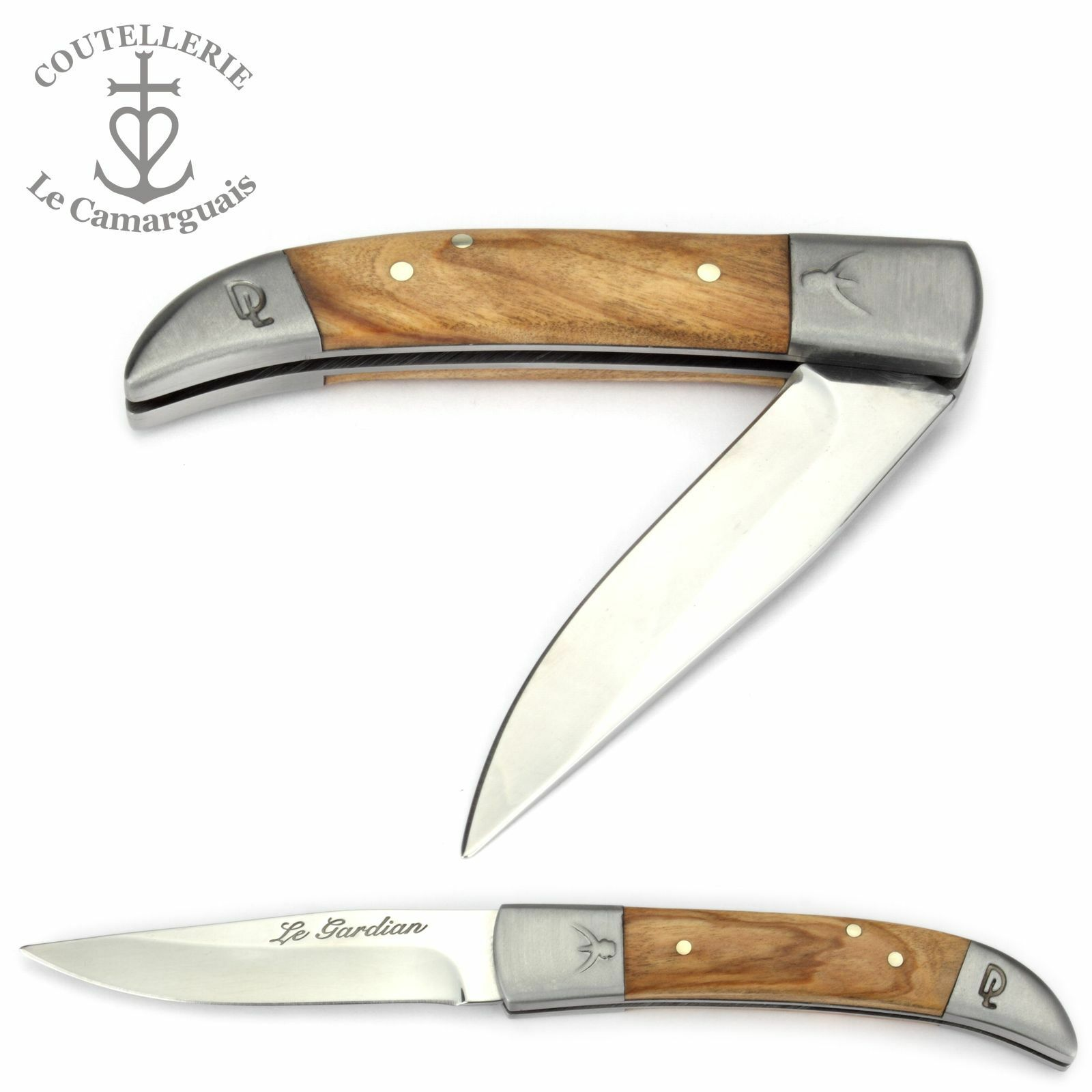 Camargu Taschenmesser Le Gardian 10 cm cm cm - Olivenholz - Messer Frankreich Camargue 1fa332