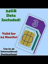 International Data Roaming SIM. 24GB Broadband 4G. UK/USA/EUROPE/ASIA Save £££'s