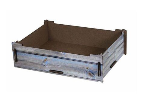 Werkhaus  Aufbewahrungsbox groß Holzoptik Holzkiste stapelbar Deckel Unterteiler