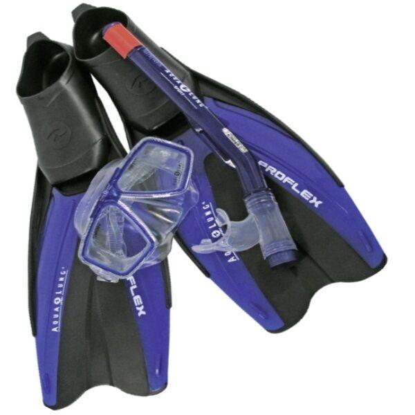Aqua Lung Schnorchelset Tauchset Tauchset Tauchset Komplett PROFLEX II mit Tasche  Gr. 37-46 c855c7