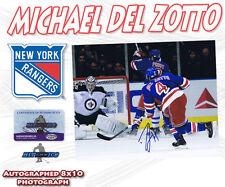 MICHAEL DEL ZOTTO Signed NEW YORK RANGERS 8x10 w/COA *NEW*