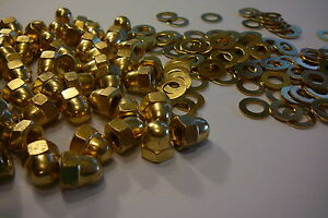 M6-SOLID-BRASS-HEXAGON-DOME-NUTS-WITH-FREE-M6-BRASS-WASHERS-10-20-OR-50-PACKS