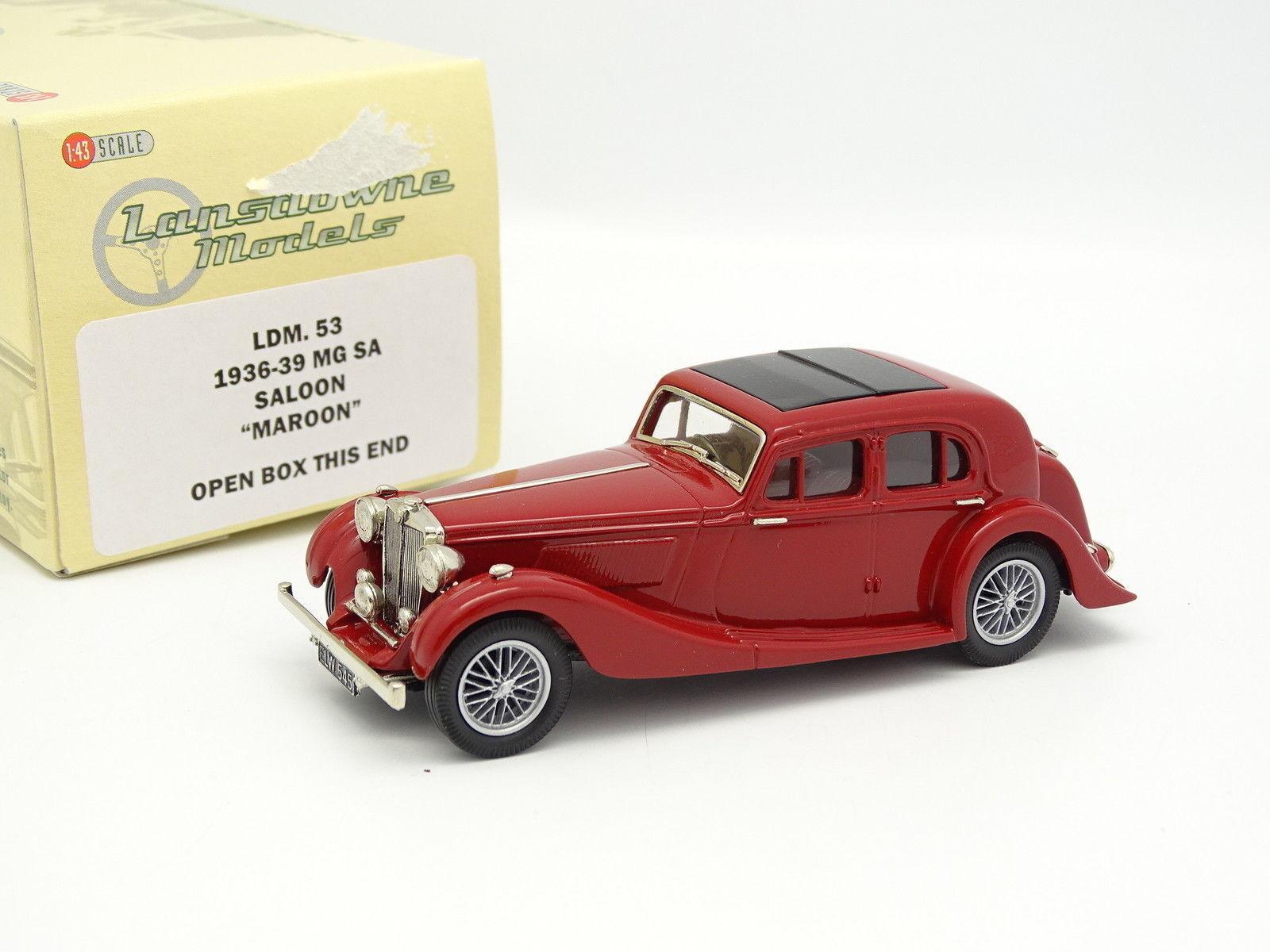 Cadeau de noel Lansdowne Models 1/43 1/43 1/43 MG SA Saloon Maroon 1936 | Sale Online  81db4c