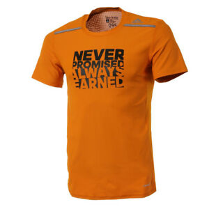 ADIDAS MEN'S ORANGE TECH FIT CHIL FIT GFX TRAINING SHIRT AI9333 - COD+FREE SHIP