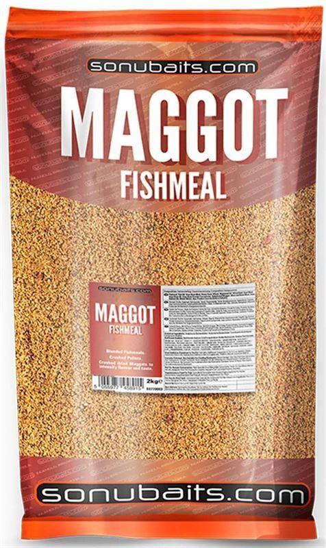 10kg Sonubaits Maggot Fishmeal Groundbait 5 x 2kg Bags