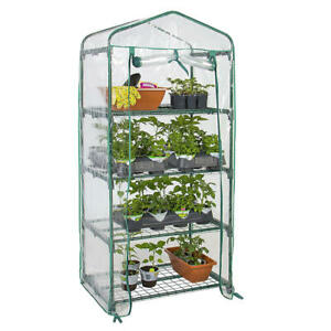 4-Tier-Portable-Mini-Greenhouse-W-Clean-Cover-Garden-Plant-Warm-House-GreenWise