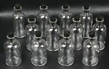 Lot Of 12 Wheaton Glass 125ml Reagent Storage Media Bottle With Rubber Stopper