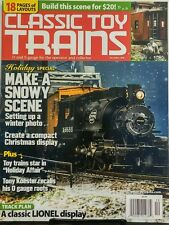 Classic Toy Trains Dec 2016 Make A Snowy Scene Winter Photo FREE SHIPPING sb
