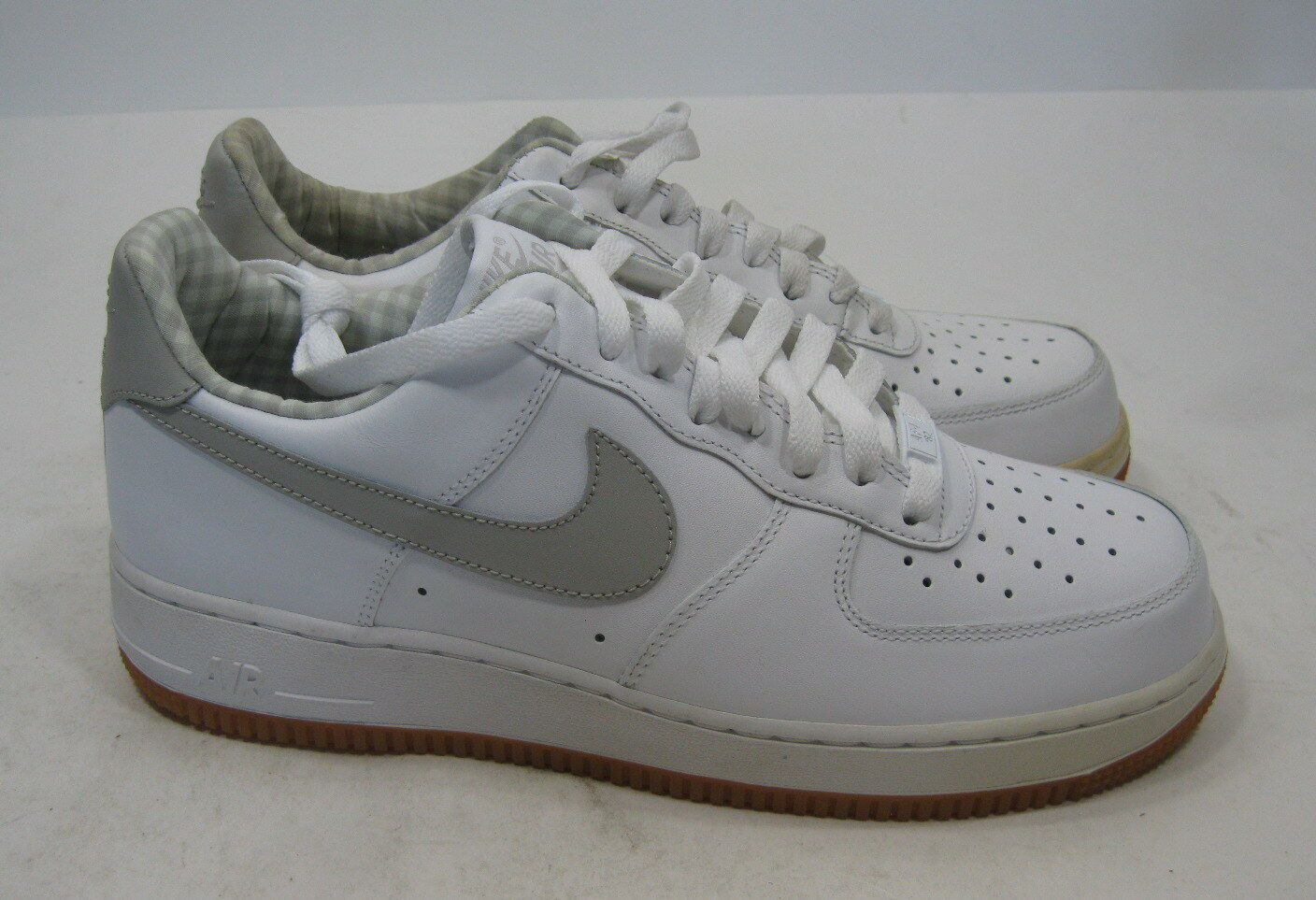 huge discount 41cba 64d3c Nike Air Force 1 07 blanc blanc blanc Tech Gris 315122-169 Khaki Brown