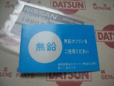 DATSUN 1200 Fuel Caution Decal Sticker (For NISSAN 240Z 240K 240RS S13 S110 510)