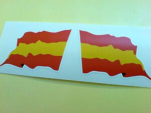 SPAIN-SPANISH-Wavey-Flag-Motorcycle-Helmet-Car-Stickers-Decals-2-off-60mm