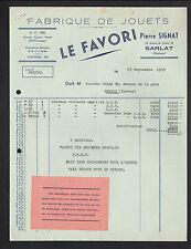 """SARLAT (24) USINE de JOUETS ,CHEVAL à ROULETTES """"LE FAVORI / Pierre SIGNAT"""" 1959"""