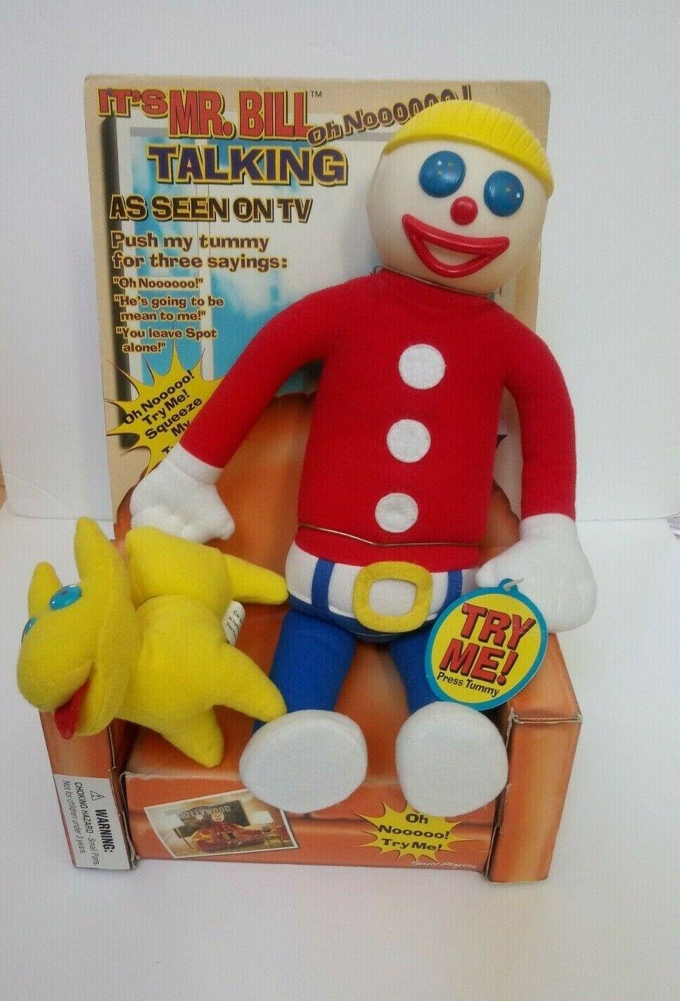 Talking Mr. Bill Saturday Night LIVE SNL Plush Doll 11  1998 NEW HTF RARE