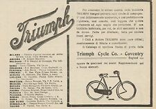 Z1348 Biciclette e Cicli a Motore TRIUMPH - Pubblicità d'epoca - 1909 Old advert