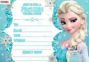 Image Is Loading Disney Frozen Elsa Olaf Birthday Invitations Diy Blanks