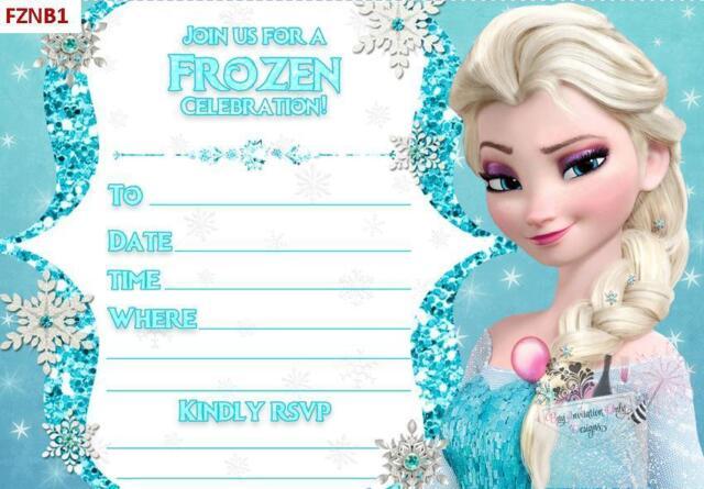 Disney frozen elsa olaf birthday invitations diy blanks set of 8 ebay disney frozen elsa olaf birthday invitations diy blanks set of 8 filmwisefo