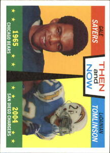 2005-Topps-Heritage-Then-and-Now-TN3-Gale-Sayers-LaDainian-Tomlinson