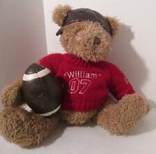 "Teddy Bear Football Player William 07 Plush 15"" Stuffed Animal"