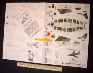 Luftwaffe-Fiat-G-91-Wilhelmshavener-Modellbaubogen-Jade-Verlag-1970s-Vintage