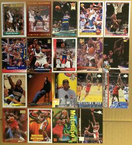 Dikembe-Mutombo-LOT-of-43-Rookies-RC-insert-base-cards-HOF-1991-1998-Nuggets-Den