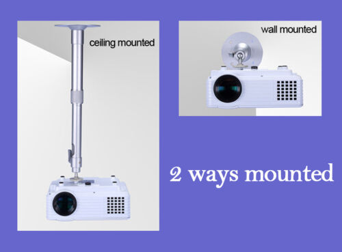 Universal Projector Wall Ceiling Mount Hanger 360° Rotatable Head 14.4-24 Inch